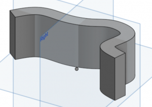 Thicken tool example